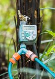 Temporizzatore Controler dell'acqua fotografia stock libera da diritti