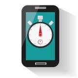 Temporizzatore del cronometro di Smartphone Fotografie Stock Libere da Diritti