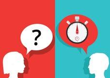 Temporizzatore di domande e risposte del cronometro Fotografie Stock Libere da Diritti