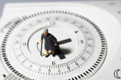 Temporizzatore senior C del termostato di signora Fotografie Stock Libere da Diritti