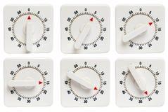 Temporizzatori della cucina 0 - 25 minuti Fotografie Stock