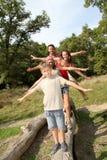 Tempos do divertimento da família Fotografia de Stock Royalty Free