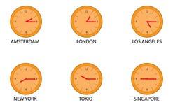Tempos do mundo Foto de Stock