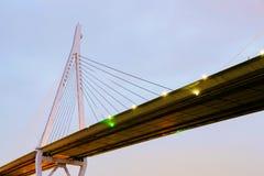 Tempozan桥梁在晚上 库存图片