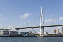Tempozan桥梁 免版税库存照片