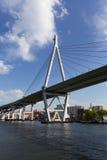 Tempozan-Brücke lizenzfreies stockfoto