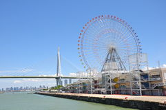 Tempozan Ferris Wheel Stock Images