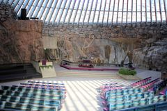 Temppeliaukio Church In Helsinki Royalty Free Stock Photography