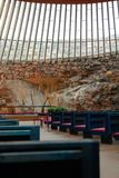 Temppeliaukio church in Kelsinki Stock Photo