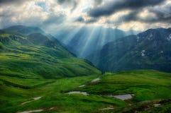 Temprano en las montañas austríacas Fotografía de archivo libre de regalías