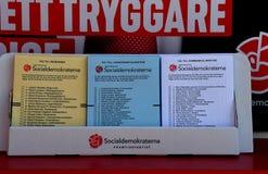 TEMPRANO VOTANDO EN ELECCIONES GENERALES SUECAS fotografía de archivo libre de regalías