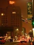 Temprature van de binnenstad van Portland Maine Stock Afbeeldingen