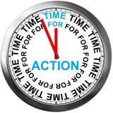 Temps à l'action illustration de vecteur