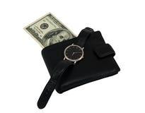 Temps à l'argent Photo stock