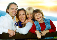 Temps 6 de famille Photos libres de droits