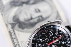 Temps-argent Image libre de droits