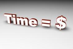 Temps = argent Photographie stock