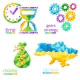 Temps, argent, vitesses, Ukraine Photographie stock