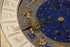 Temps, astrologie et horoscope antiques photographie stock