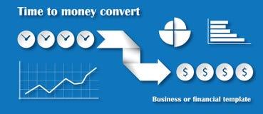 Temps au concept de converti d'argent Photographie stock