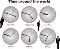 Temps autour des affaires du monde Image stock
