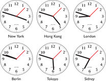 Temps autour du monde Photos stock