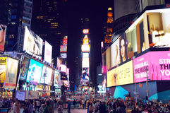 temps carrés neufs York de ville Images libres de droits