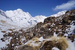 Temps clair de camp de base d'Annapurna images libres de droits
