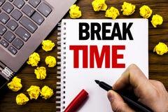 Temps conceptuel de coupure de légende des textes d'écriture de main Concept d'affaires pour la pause d'arrêt de l'atelier de tra Photo libre de droits