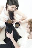 Temps confortable de café de deux années de l'adolescence Photos libres de droits