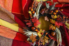 Temps d'automne avec la récolte photographie stock libre de droits