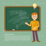 Temps d'éducation de nouveau à l'écolier d'école dans un conseil pédagogique Photos libres de droits