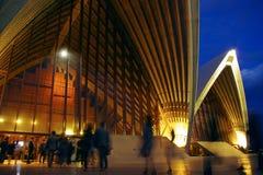 Temps d'exposition de théatre de l'$opéra de Sydney Image stock