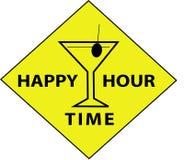 Temps d'heure heureuse (signe) illustration libre de droits