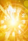 temps d'horloge abstrait de fond Photos libres de droits