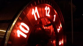 Temps d'horloge de nuit Photographie stock libre de droits