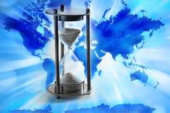 Temps d'horloge du monde Images libres de droits