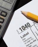 Temps d'impôts Photos stock