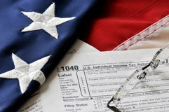 Temps d'impôts - date-limite du 15 avril. Photographie stock libre de droits