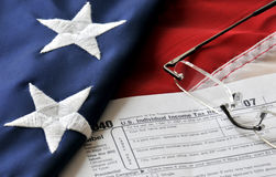 Temps d'impôts - date-limite du 15 avril. Images stock