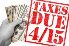 Temps d'impôts Photographie stock libre de droits