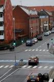 TEMPS DANS la température de COPENHAGUE -43Farenheit 4C Photos stock