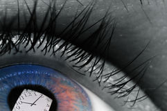 Temps dans nos yeux images stock