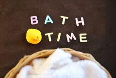 Temps de Bath Prenez un bain Photo libre de droits