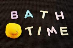 Temps de Bath Prenez un bain Photos stock
