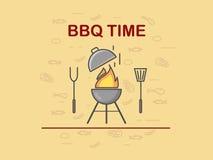 Temps de BBQ Fond illustration de vecteur