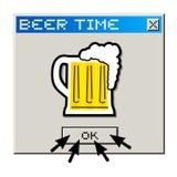 Temps de bière Photos stock