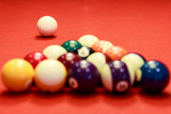 Temps de billard Photographie stock libre de droits