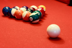 Temps de billard Images libres de droits