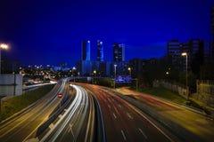 Temps de bleu de Madrid Photos stock
